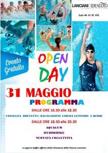 OPEN DAY 31 MAGGIO